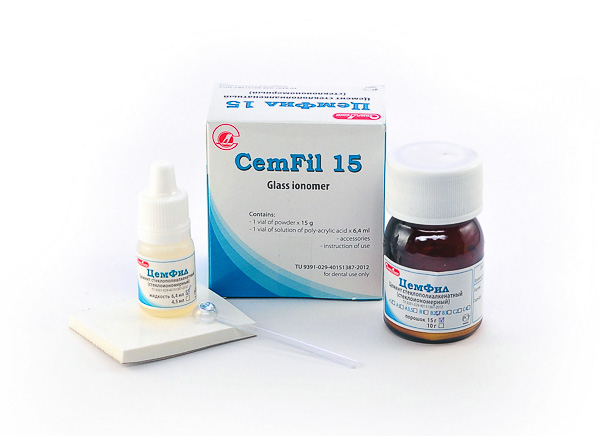 «Cemfil» - universal glass ionomer (powder + liquid)
