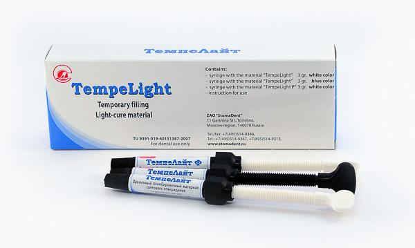 TempeLight» / «TempeLight F» - temporary filling light-cure material