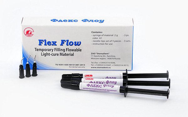 «Flex Flow» - light-cure flowable material for temporary filling